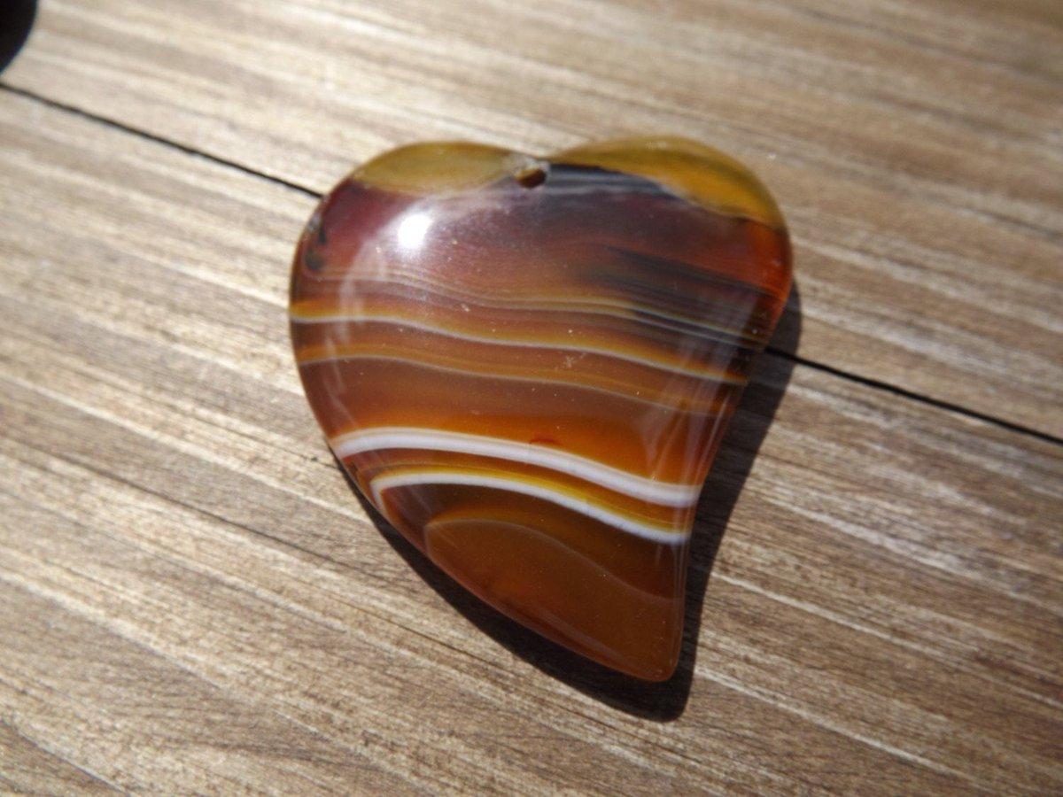 Natural picture agate gemstone heart shaped pendant 52mmx43mm  - 1 pendant  #Etsyireland #Etsy #BeadsBitznBopz #HeartPendant