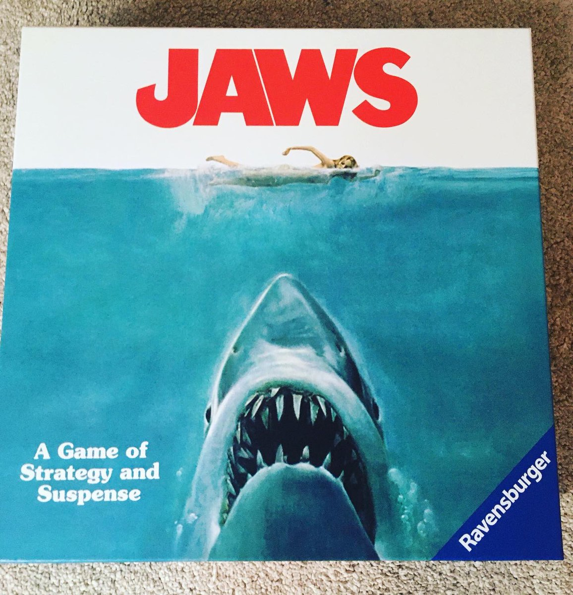 Well I've got the best board game ever. My wife is awesome #jaws pic.twitter.com/3WY0QSidd4