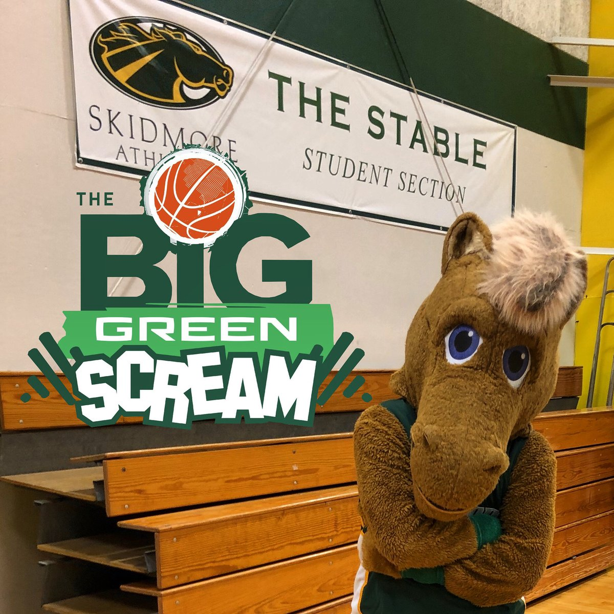 Y'all ain't even ready. Final home game for @SkidmoreMBB and @SkidmoreWBB. It's gonna be bedlam. 😤#BigGreenScream https://t.co/pBB64vdo8C
