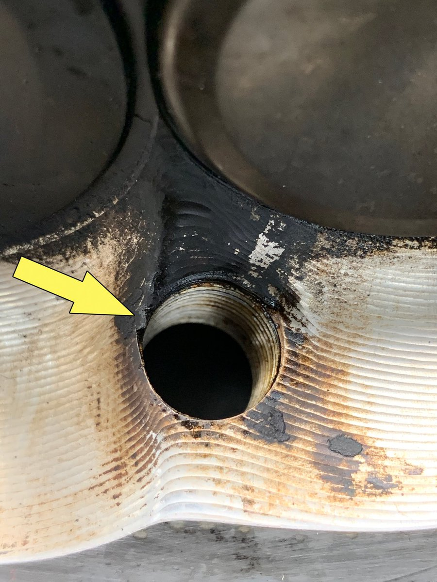 I'm of the opinion that sharp edges inside the combustion chamber are a bad thing and can cause things like detonation. I used a small file to get rid of these on all cylinders. Scroll to see the process. Thoughts? #dt383 #etcgdadstruck #cylinderhead #takingnochances<br>http://pic.twitter.com/PSLccvIh6b