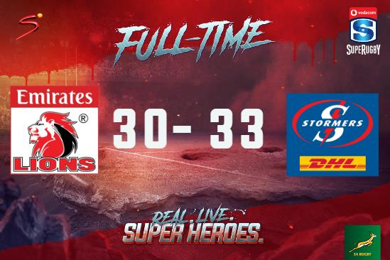 Wow! Ruhan Nel runs in for the winning try with the final move of a thrilling #VodacomSuperRugby match in Joburg, which ends in a nail-biting 33-30 victory for the #DHLStormers.  @Vodacomrugga #TacklingCancer #SSRugby  #LIOvSTO <br>http://pic.twitter.com/ZM2siz9cJt