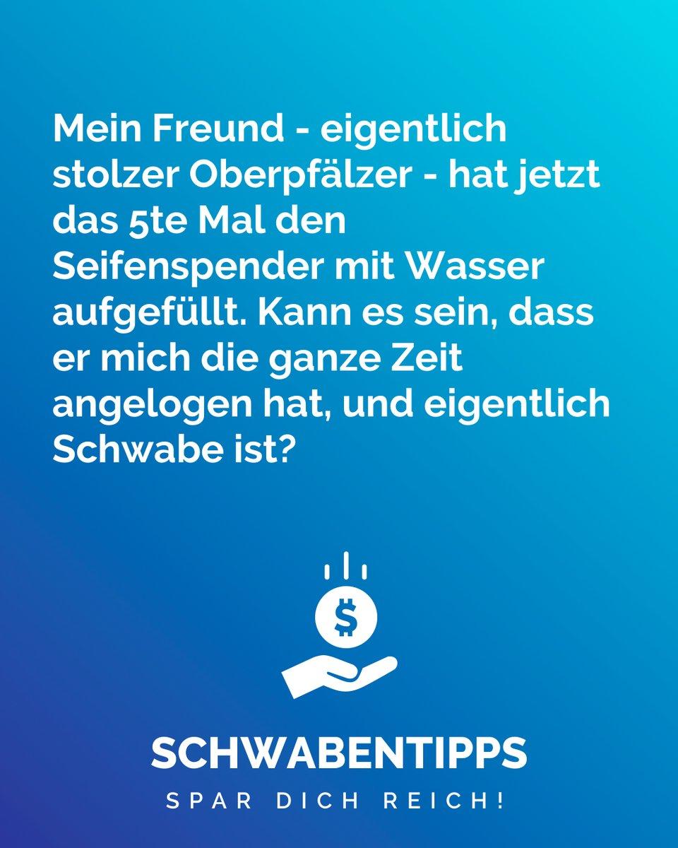 Wird immer mehr ph-Wert neutral #schwabentipps #schwabentipp #spardichreich #sparen #jodel #jodeldeutschland #sparsam #schwabe #geizkragen #sparfuchs #spartipps #spartipp #witzig #bestofjodel #sprüche #spruch #genaumeinhumor #lustig #lustigesprüche #witzigesprüchepic.twitter.com/yemx0NK2OL