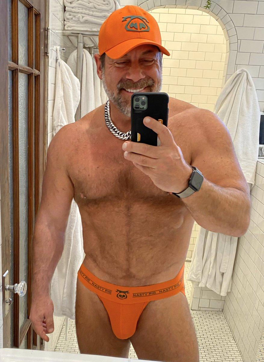 Orange you glad it's the weekend?!     #nastypig #jock #orange #muscledaddy #progresspic <br>http://pic.twitter.com/h8TsITUuz2