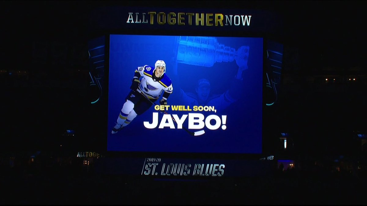 Get well soon, Bo. #stlblues