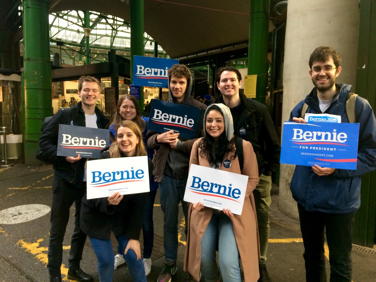 Dual citizens and London pals for Bernie 😍 @Bernie2020UK Join us! bernie2020abroad.org