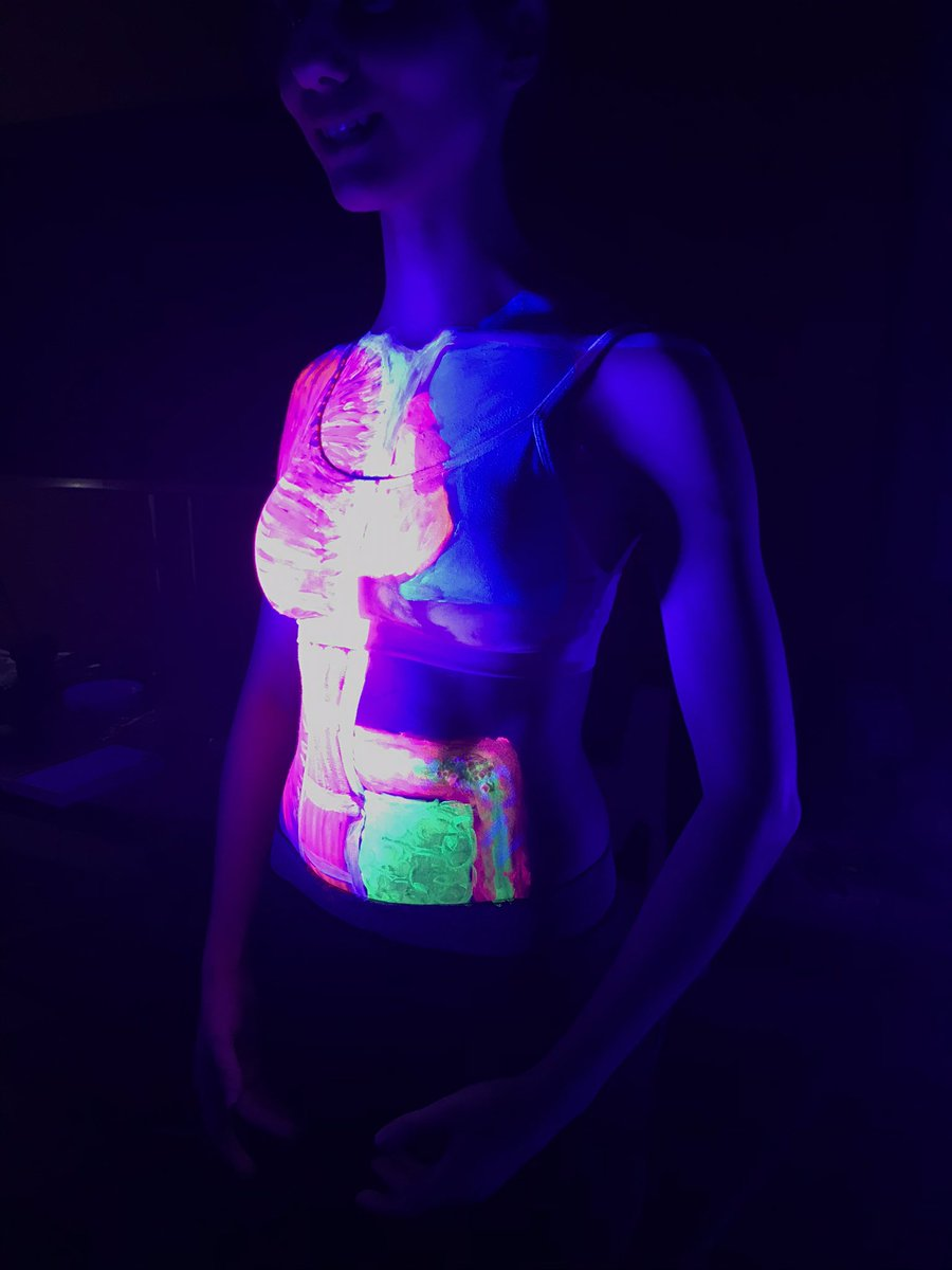 UV body painting at @BroadwayCinema this afternoon #CuriousNotts #FOSAC