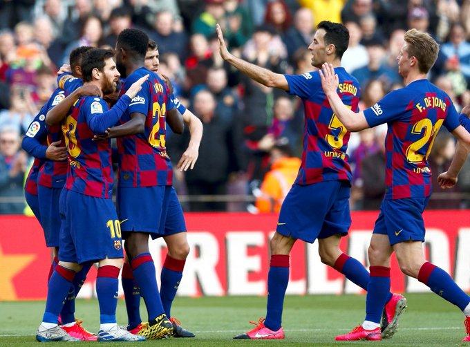 برشلونة يحقق فوزا صعبا ومهما على فريق خيتافي في الليغا