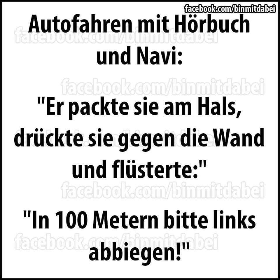 Tja ... Hörbuch und Navi ist definitv keine gute Kombi #hörbuch #navi #autofahrt #joke #books #spaßmusssein #lachenistgesund #blödsinnimhirn #autorenleben #writherslifepic.twitter.com/p37tEDQXme