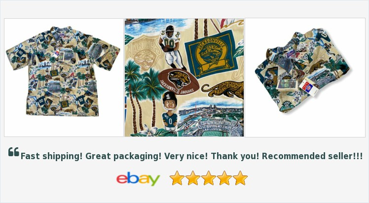 Jacksonville Jaguars XL Reyn Spooner NFL Hawaiian Shirt NWT   eBay #reynspooner #jacksonvillejaguars #NFL #florida #cobblecreek  http://rover.ebay.com/rover/1/711-53200-19255-0/1?ff3=4&pub=5575282018&toolid=10001&campid=5338064414&customid=&mpre=https%3A%2F%2Fwww.ebay.com%2Fitm%2F324073857628…pic.twitter.com/D2tgNd0hg6