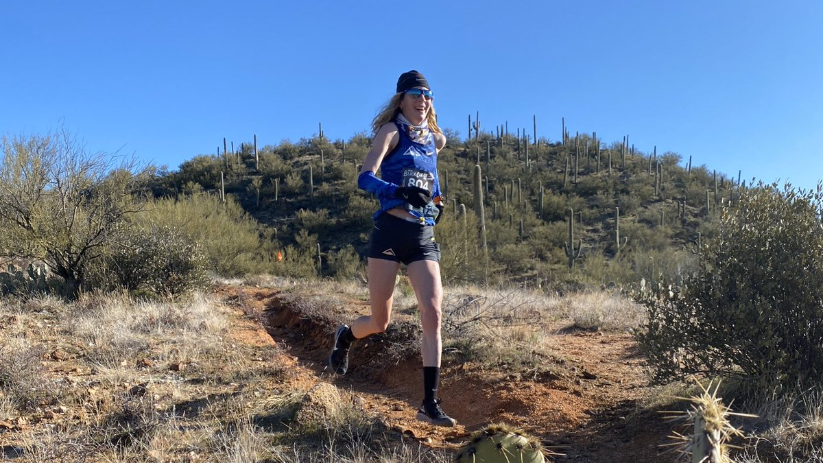 Just outside of mile 19, @runcamille leads the #blackcanyon100k on the ladies side! (@Nike) #blackcanyonultras