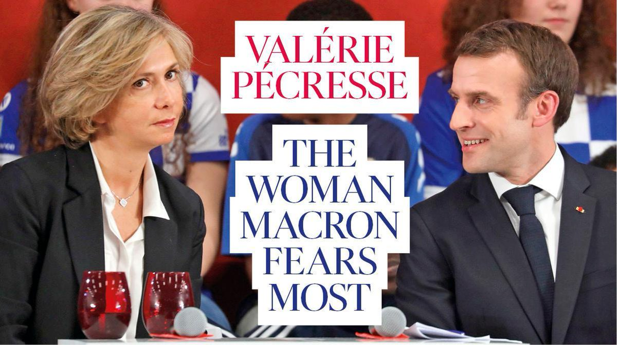 Valérie Pécresse on Macron, sexism, Boris Johnson and Brexit. With the publication of her book – part @EmmanuelMacron takedown, part feminist manifesto – @vpecresse is being talked of as France's next president https://www.thetimes.co.uk/article/valerie-pecresse-on-macron-sexism-boris-johnson-and-brexit-8bhql7djc … #macron #politics #sexismpic.twitter.com/8Rm1snhlDy