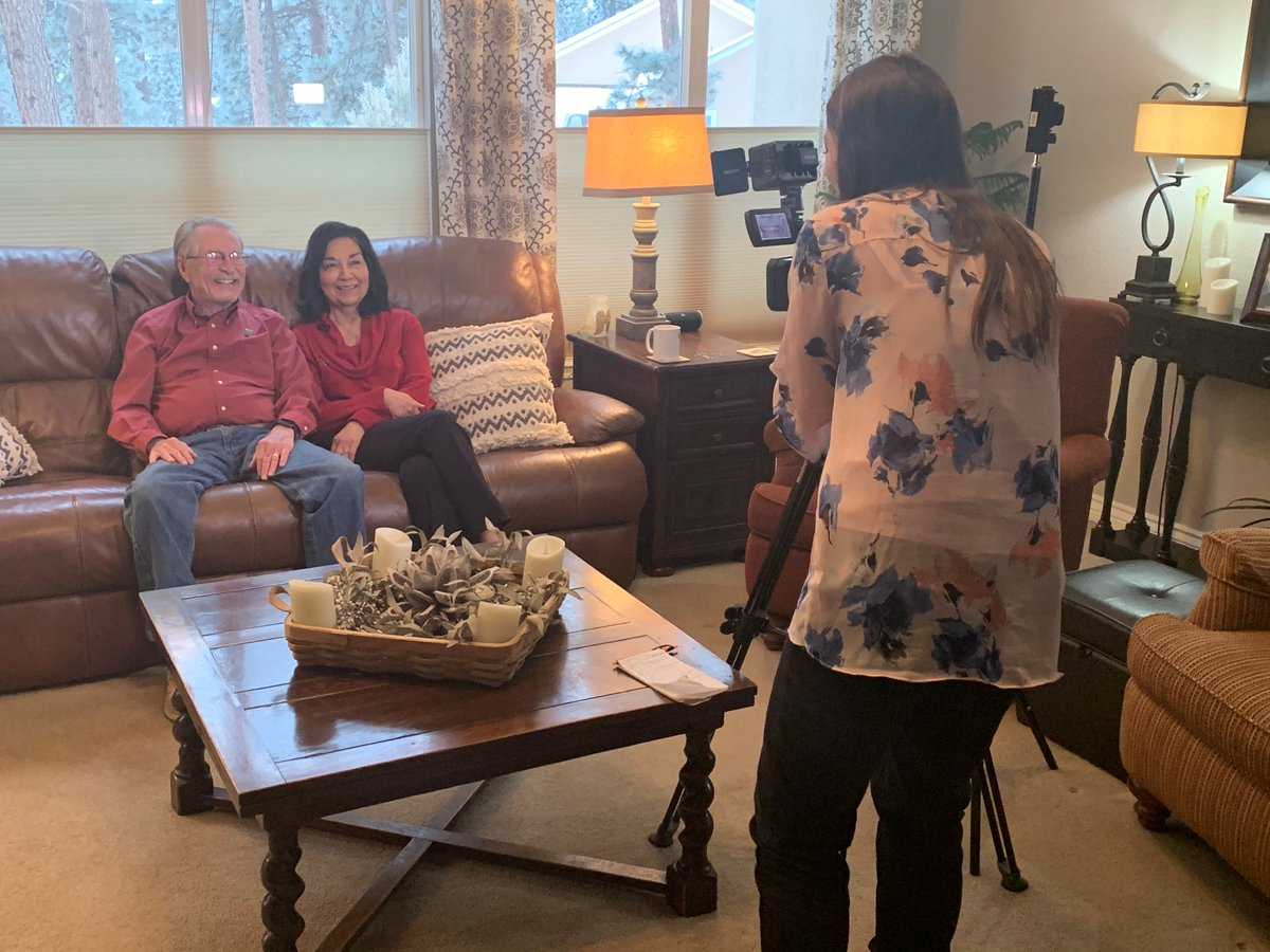 """Michael and Viola Hale, transplant recipients and #AdvocatesForLife, shared their story full of love, life and gratitude w/ @KKTV11News, @JennaMiddaugh in honor of #NationalDonorDay! """"They're our heroes,"""" Michael said. """"They saved both of our lives."""