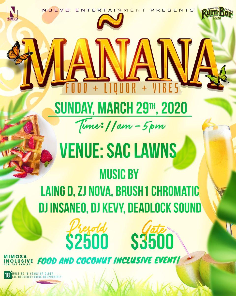 Mañana: Food + Liquor + Vibes Official Flyer Design #FoodInclusive #MimosaInclusive #FlyerDesign #GraphicDesign #GraphicDesigner #Jamaica #DigitalDesign #Illustrator #DigitalGraphics #DigitalMediapic.twitter.com/PUBbu45bNC