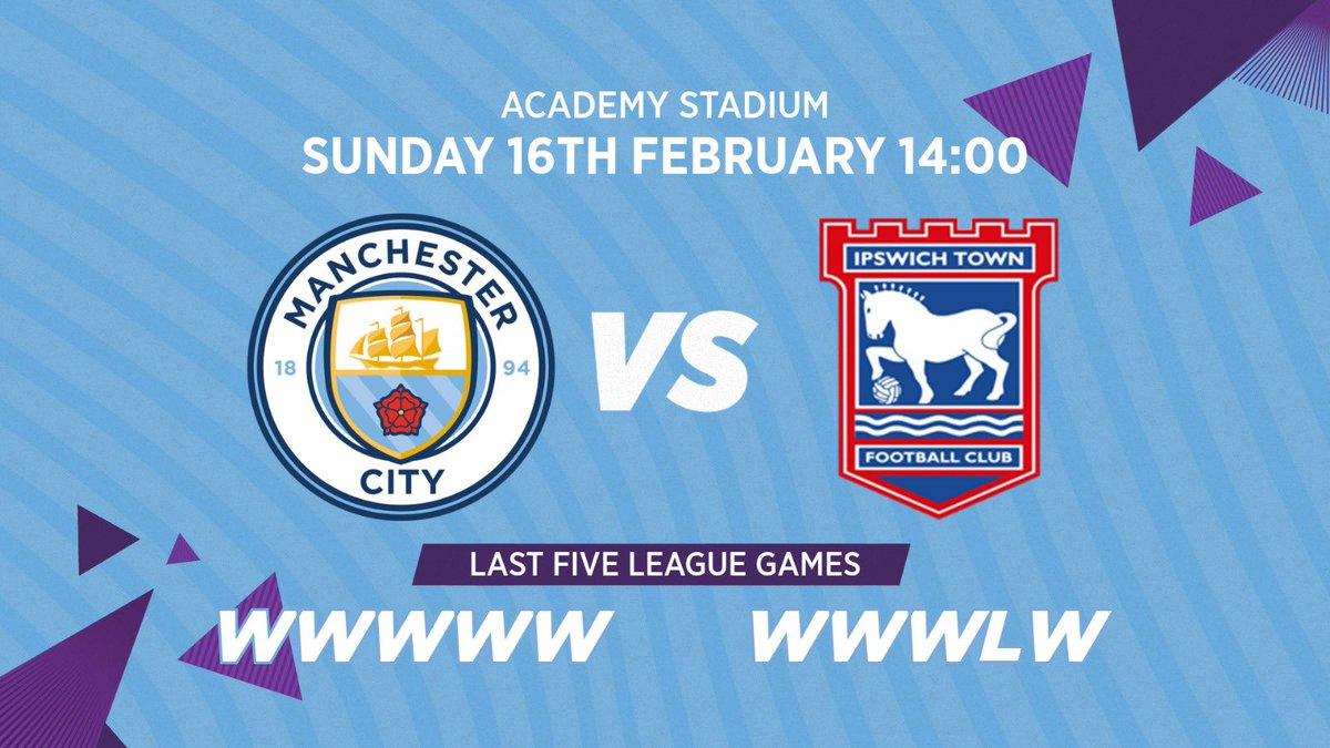 Our defence of The Women's FA Cup resumes tomorrow! ⏩🆚@ITFCWomen 📍 Academy Stadium ⏰ 14:00 UK🏆@TheWomensFACup 📺http://mancity.com/city+🎟http://manc.it/2tYJgSL🔵#ManCity