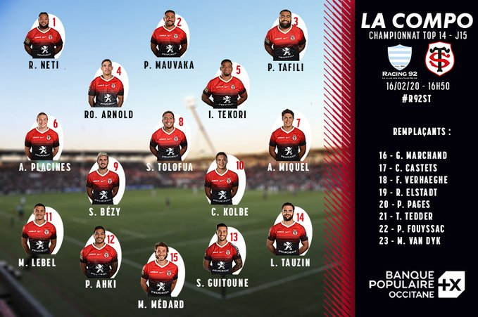 It had been rumoured, and now confirmation that Cheslin Kolbe will start at fly-half for Toulouse tomorrow!  It's a bold move, but if there is one ground you'd be willing to try it, it's probably Racing's arena! <br>http://pic.twitter.com/P8AYeKggPw