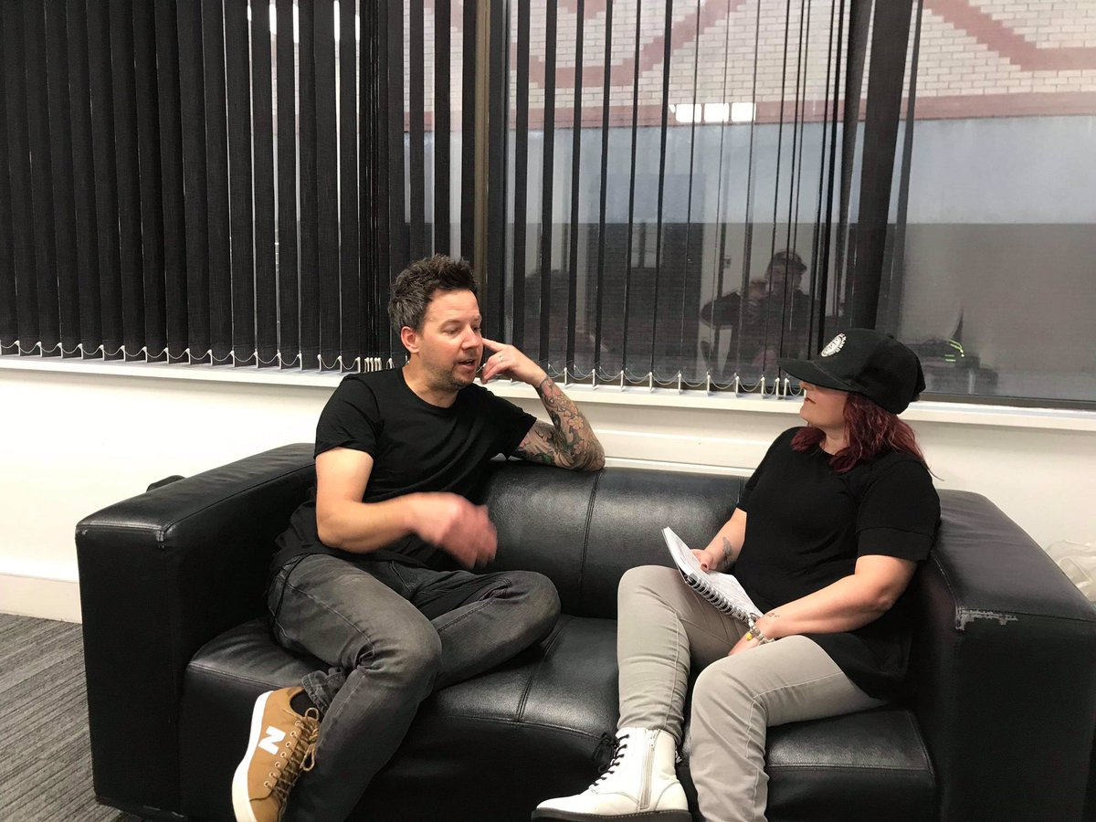 We're in Not so sunny Brighton today interviewing @simpleplan frontman @pierrebouvier full interview up on our website Monday!!#simpleplan #poppunk #interview