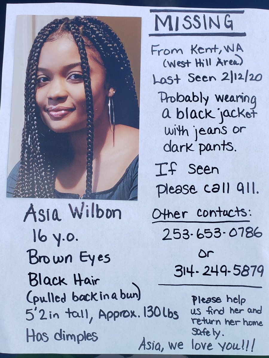 Asia we love you!!! Please come home baby girl 😪 I just don't understand. https://t.co/HiODA3KZVo
