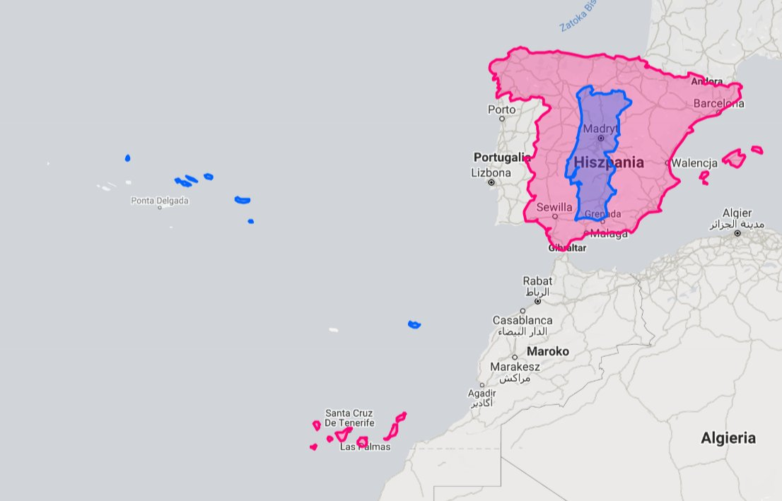 Portugal is actually smaller than Spain