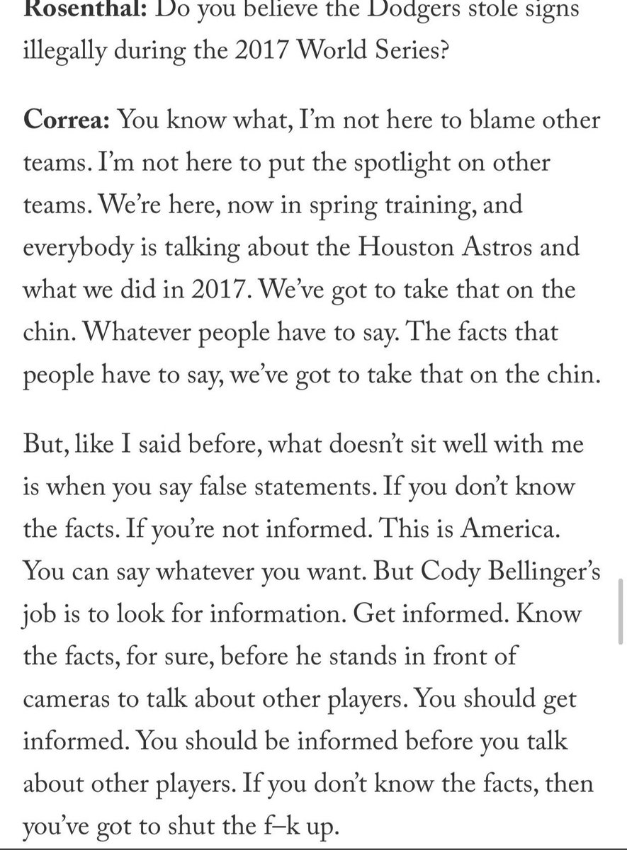 Cody Bellinger has been deleted by Carlos Correa.