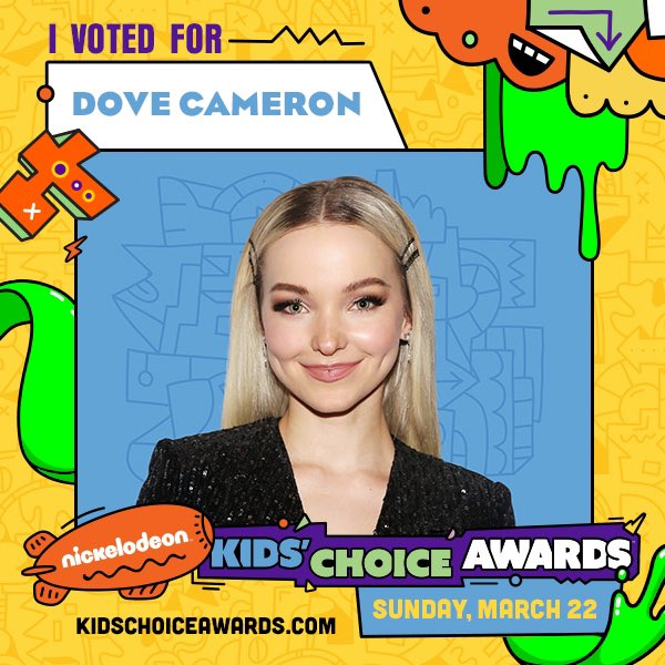 Vote for @DoveCameron! Go to kidschoiceawards.com or use the hashtags #KCA #VoteDoveCameron