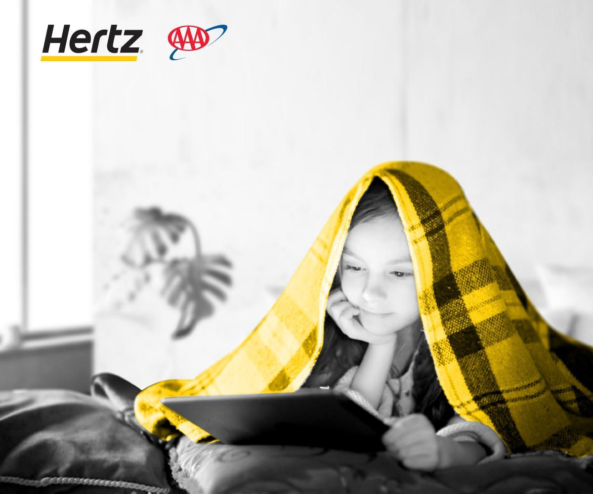 Exclusive #AAADiscounts offer: earn 2 free movie rentals with Vudu on qualifying Hertz rentals.*   Book now on   * Terms apply.
