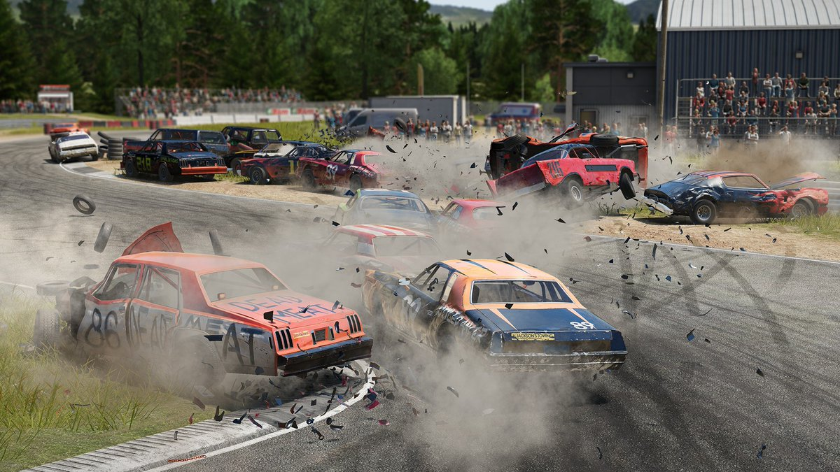 If you're not making a mess 💥🏎️ you're doing it wrong...  PS Store burns 30% off Wreckfest: https://t.co/V7cHKyQl0Z https://t.co/u99vDpzeK3