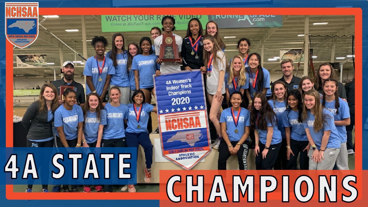 2️⃣0️⃣2️⃣0️⃣ 4A Women's Indoor Track & Field State Champions! 🏆@_Panther_Creek_ #NCHSAAINDOOR 👟