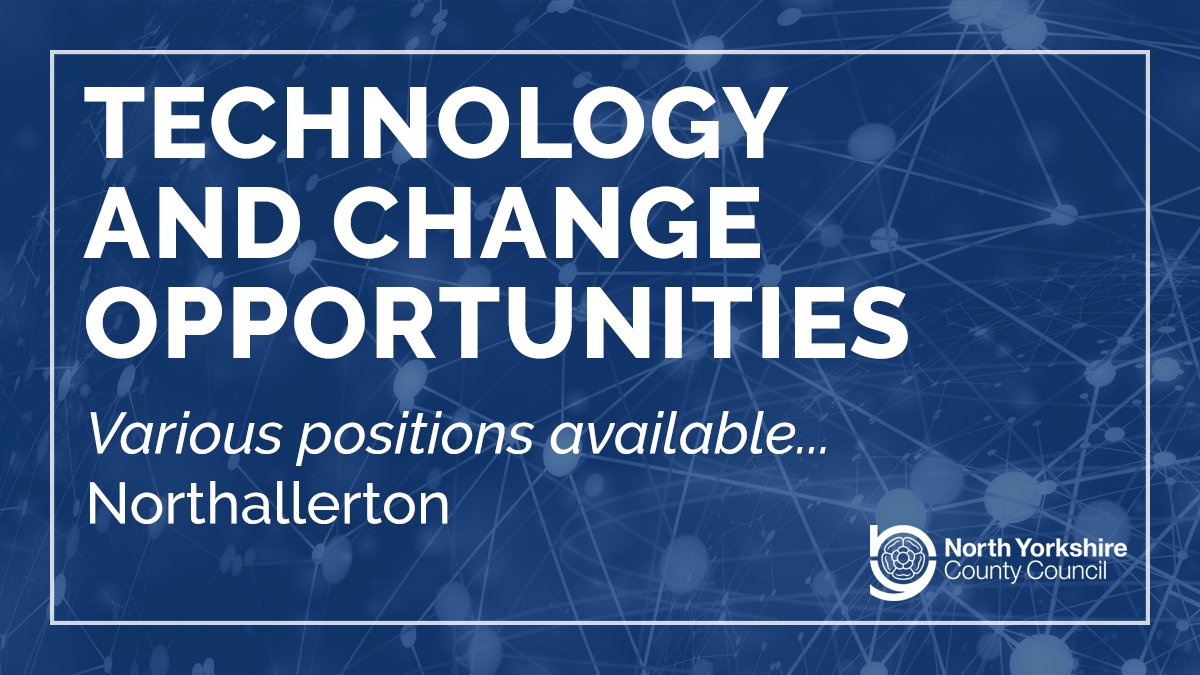 Technology and Change is an exciting and innovative service to work for, committed to supporting Council services to deliver the best possible outcomes to our local residents.  See our #vacancies and apply: https://www.northyorks.gov.uk/technology-and-change-opportunities …  #Jobs #TechJobs #ITJobs #TechnologyJobs #ITpic.twitter.com/Q4itTK2K8R