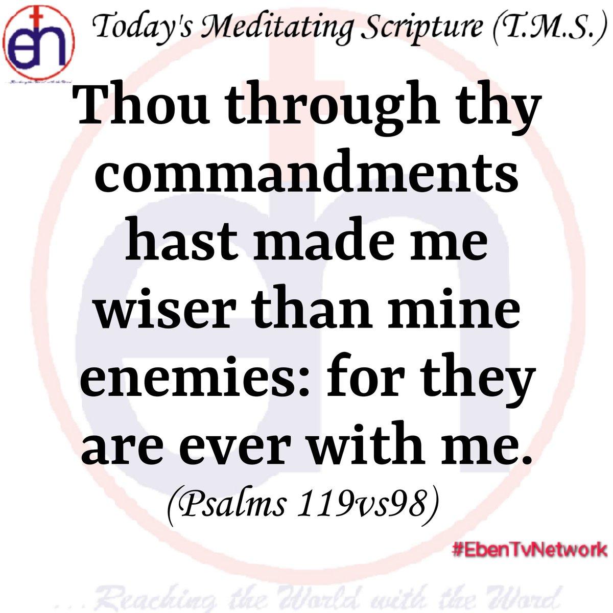 Today's Meditating Scripture (Sunday, 16th February, 2020)  #WordofGod #Bible #Scriptures #Faith #Prayer #EbenTvNetwork #ApostleJoshuaSelman #PastorEAAdeboye  #PastorFoludeboye #gbileakanni #rccg #rccgworldwide #dclm #dlbc #PastorKumuyi #mfm #Gospel #Sword #Bamiloye #GloriaBamilopic.twitter.com/btz2oDFmnY