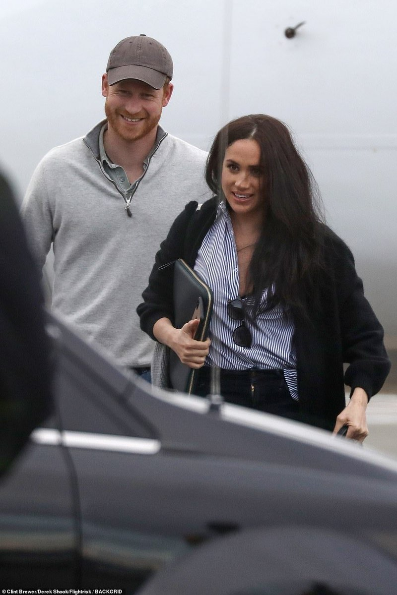 the duke and duchess of sussex on twitter prince harry and meghan since getting of a plane in canada twitter