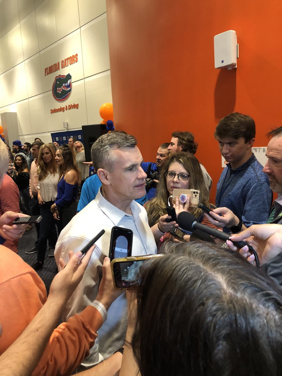 Billy Donovan sighting here at the O'Connell Center. #Gators