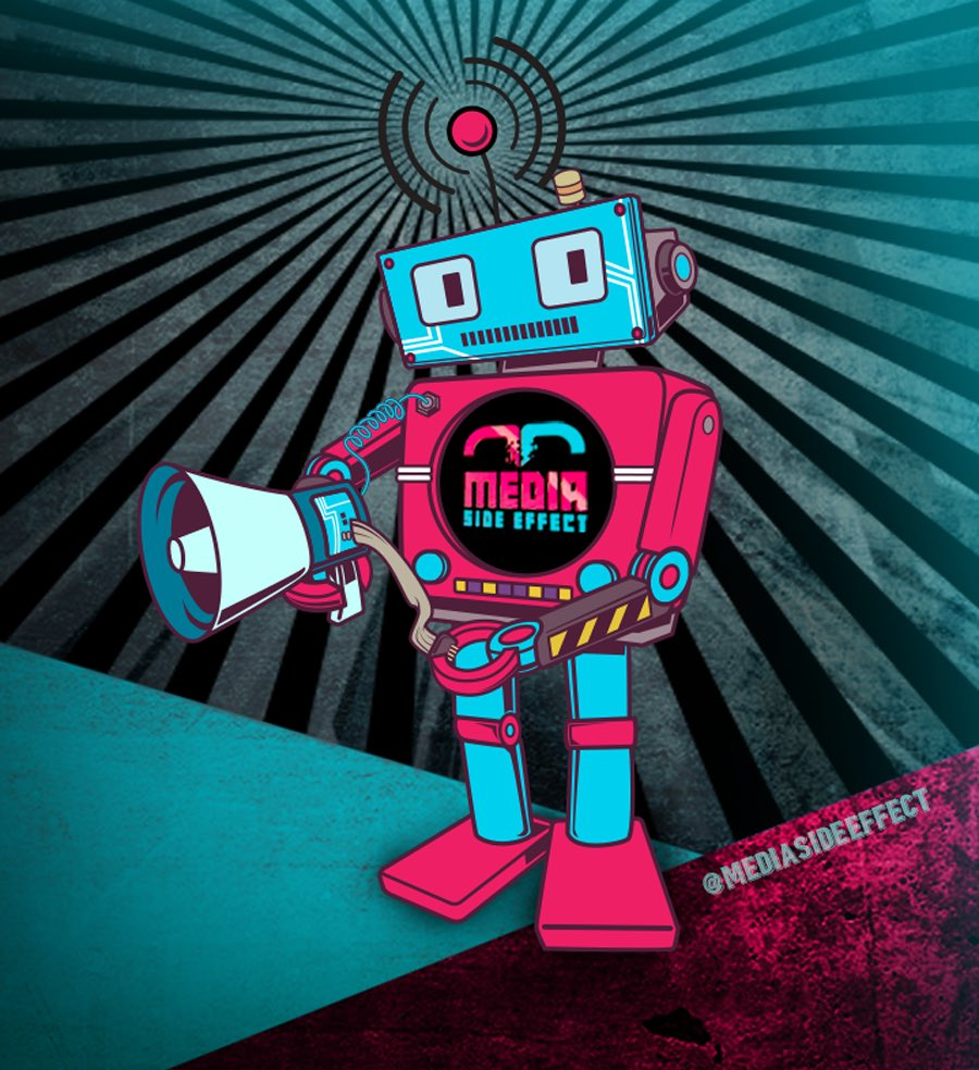 What do you think of the new Media Side Effect mascot? #universe #fractal #cymatics #sacredgeometry #simulationtheory #quantumphysics #singularity #truth #truthseeker #peaceandlove #peace #worldpeace #earth #stars #singularity #brainwashed #wakeuppic.twitter.com/4I7smFwVQ8