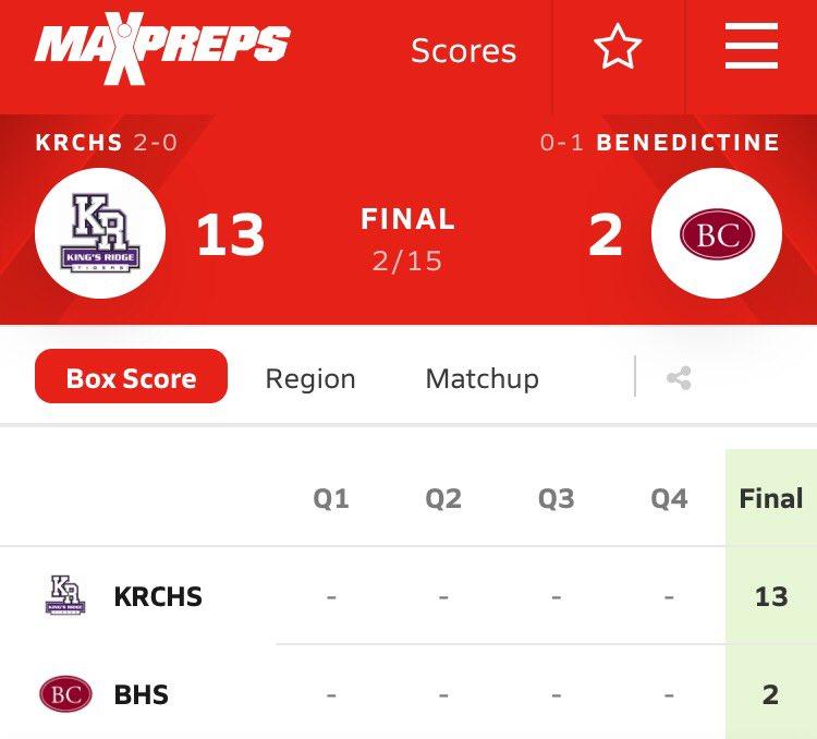 FINAL (Lacrosse): King's Ridge Christian High School 13, Benedictine 2. #thebc400 #Savannah