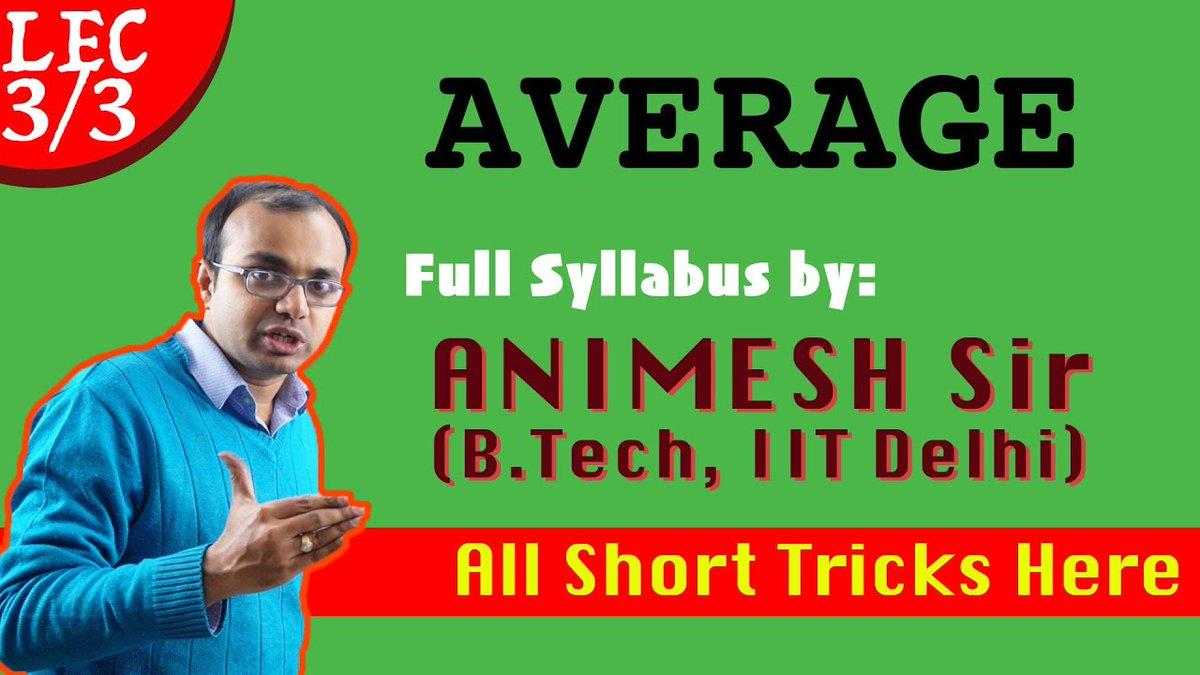"New upload - ""Average Lec 3 in Hindi | CSAT, Bank PO, SSC CGL, LDC, KVS, Railway Group D, SSC CHSL, RRB""  Watch Now: https://youtu.be/cPQTWFHQ0jkpic.twitter.com/vuMHwm2l6P"