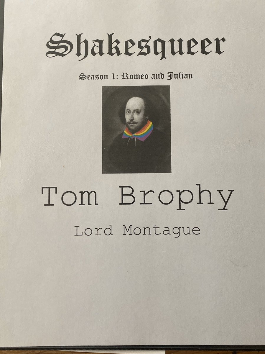 I'm excited to share that I have been cast as #lordmontague for the @shakesqueerpod debut #RomeoandJulian. It features some terrific voices and will be a must listen. Now to find out why my son is so glum. #shakesqueerpodcast #shakesqueer #shakespeare #radiodrama #actorslife pic.twitter.com/JHLhxvqDLG