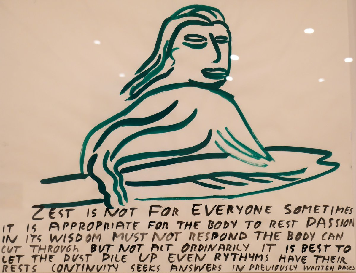 """Zest is not for everyone. Sometimes it is appropriate for the body to rest..."" (from Nancy Johnson's Appropriateness and the proper Fit, 1985 at @NatGalleryCan) #art #philosophy #feministart pic.twitter.com/MD40qKpTPB"
