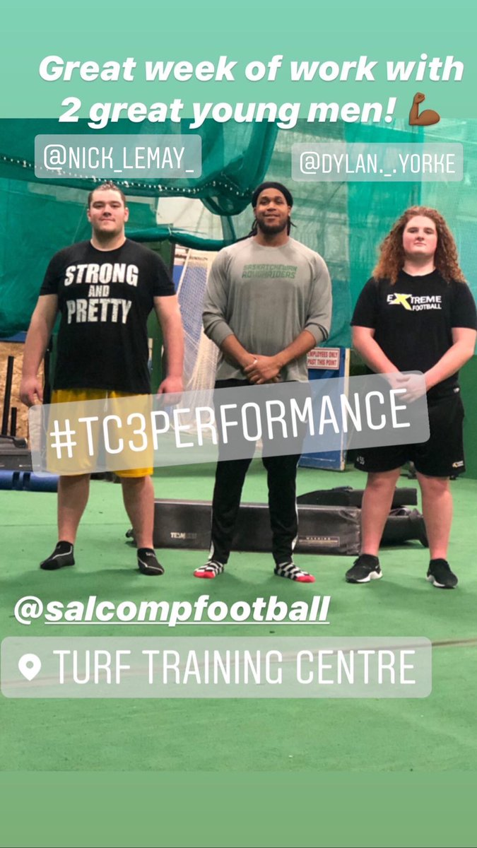 #Edmonton #Alberta has some talented young offensive lineman! Blessed to have been able to work with both of these men! The Futures bright for the #CFL