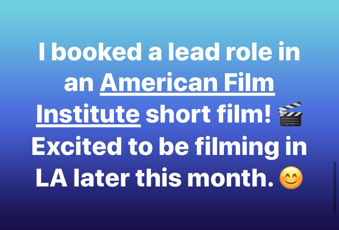 I booked a lead role in an American Film Institute short film!  Excited to be filming in LA later this month. @AmericanFilm  #actor #losangeles #shortfilm #bookedit #actorslife  http://www.imdb.me/carolynbridgetkennedy…pic.twitter.com/c5hXazWE7z
