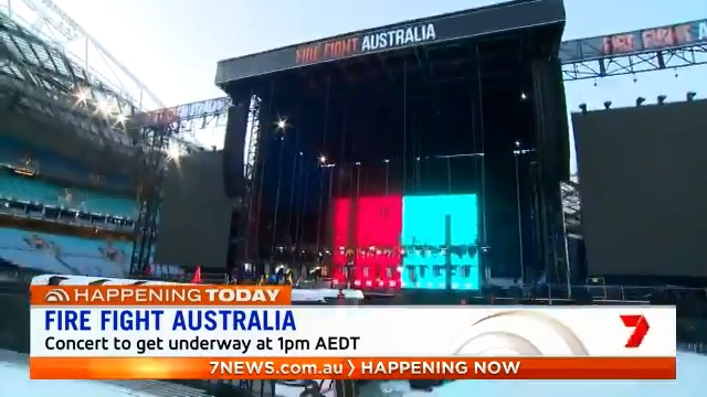 Australia's biggest ever relief concert will get underway this afternoon at @ANZStadium to raise money for those affected by the devastating bushfires. 70,000 tickets to the @FireFightAU concert sold out in less than 24hrs.  #FireFightAustralia #7NEWS