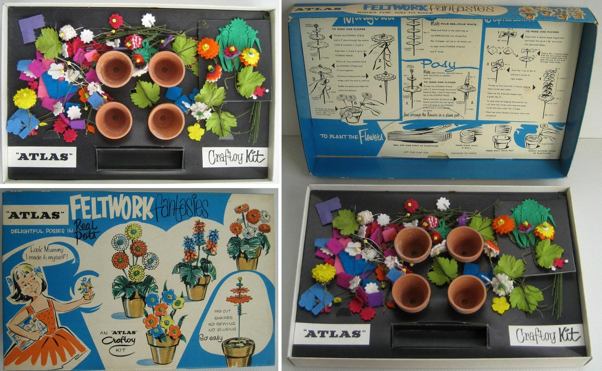 A #vintage Feltwork Fantasies craft toy kit by Atlas. 🌹🌻🌷  🛒  #FollowVintage #GotVintage #VintageForSale