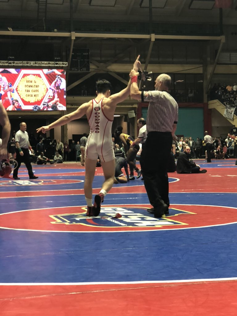 Michael Kilic caps off an incredible sophomore season with his 2nd State Championship! #CircleW #WAPRIDE @SeWrestle