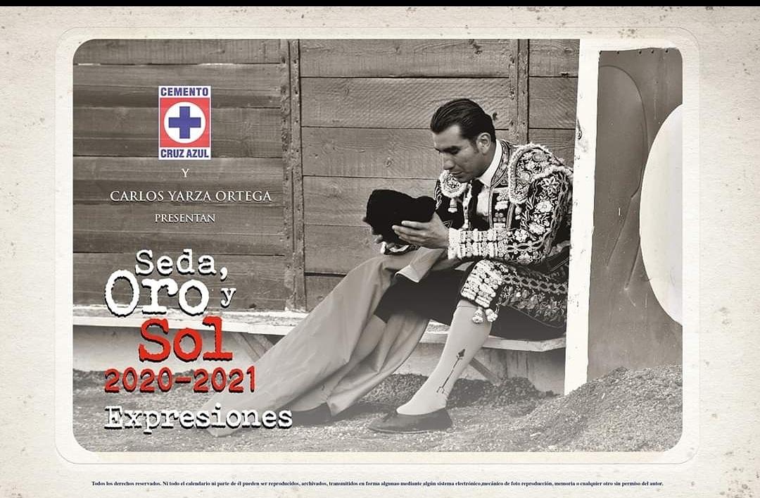 Ya tienes tu calendario taurino Cruz Azul, Seda, Oro y Sol 2020-2021, este domingo a las 13:00 estaré entregando 500 calendarios, tras el evento de @TauromaquiaTMX en la Asociación  de Matadores a un lado de La Plaza México.