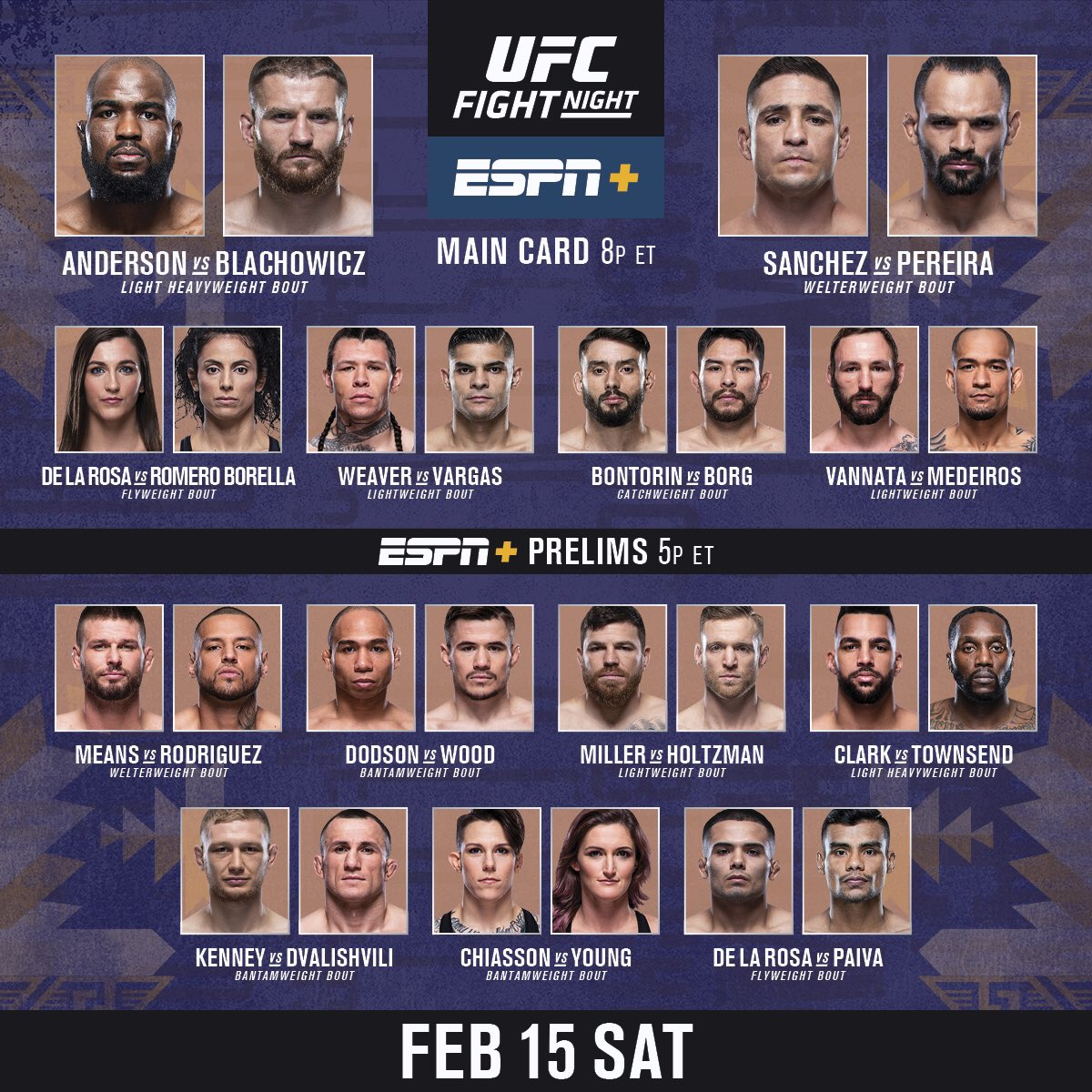 #UFCRioRancho prelims are LIVE in 15 minutes on @espn+!!!