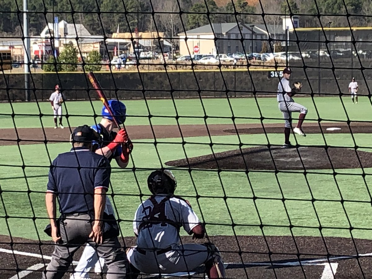 Nice break to today to see Carter Holton and @@BCbaseball1902. Cadets fell to 7-AAAAAAA Walton 5-1 but Carter played well. 4 IP, 2 runs on 3 hits, 3 walks and 9 strikeouts. Also hit a solo home run. Scouts in attendance were impressed.