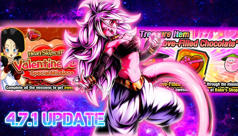 4.7.1 UPDATE IS HERE NEW VALENTINES DAY MISSIONS , FREE WAIFU CARDS ,& MORE All Info DBZ Dokkan Battle  #Anime #DBZ #DragonBall #DragonBallZ #Dokkan #DokkanBattle #DokkanEnglish #DokkanGLB #DokkanBattleGLB #DokkanGlobal #HYPERNEWYEAR  https://youtu.be/ccUEQmn_I1s pic.twitter.com/1EjSWSgVVl