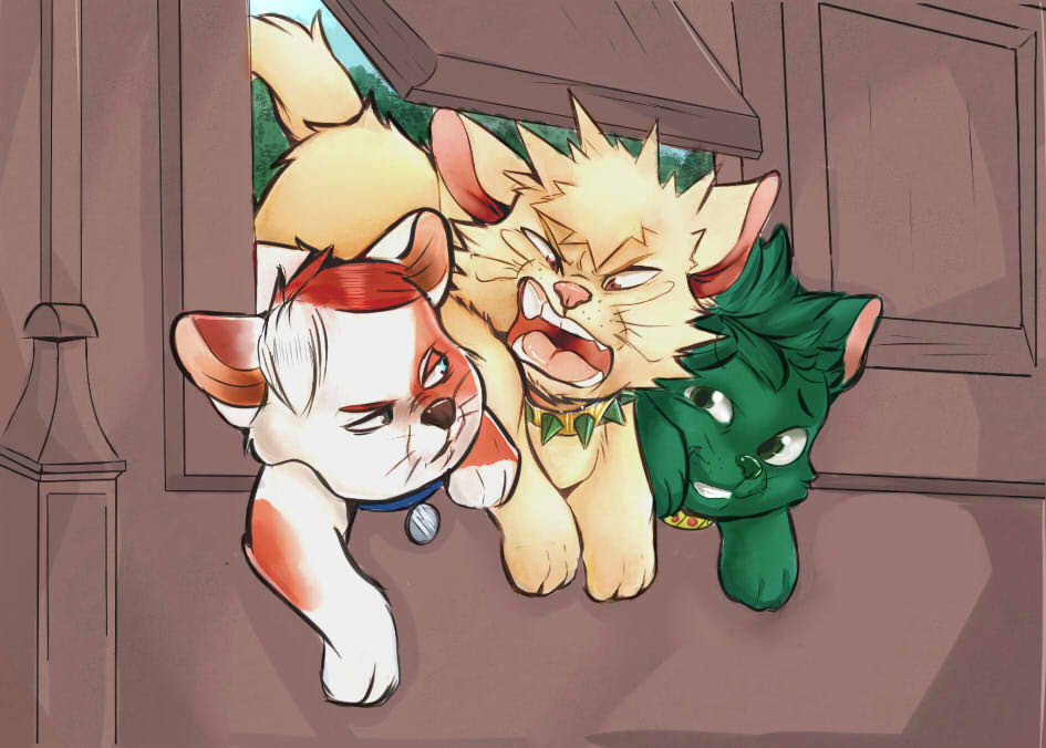 #MyHeroAcademia #Aristocats Crossover!!! MY FIRST PRINT THAT I WILL BE SELLING VERY SOON<br>http://pic.twitter.com/mpzuMKW8MG