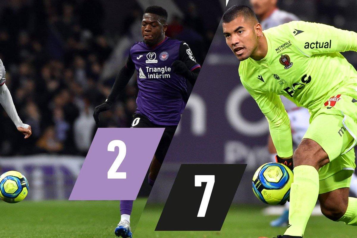 Les notes de Toulouse-Nice : le calvaire de Leya Iseka, Benitez sauve le Gym ow.ly/J6Hs30qhZR1