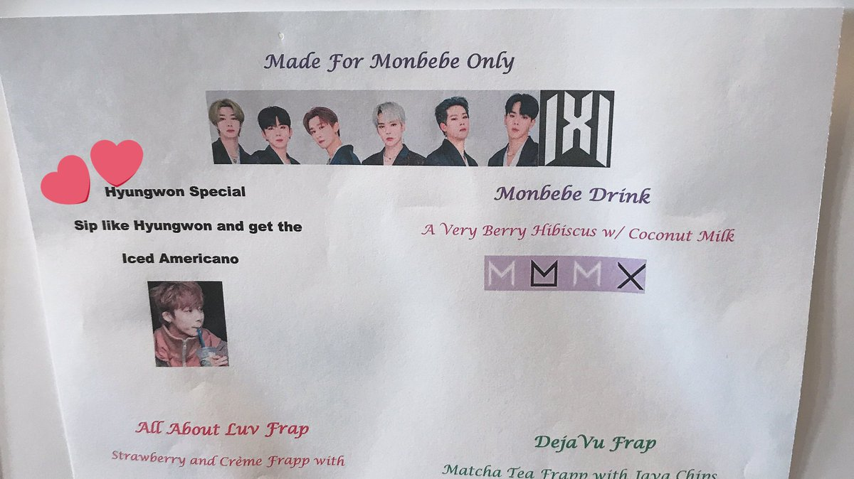 B&N got a special monbebe drink menu tell me why I'm about to get a Hyungwon special @OfficialMonstaX  @BNEventsGrove #allaboutluvforhyungwon