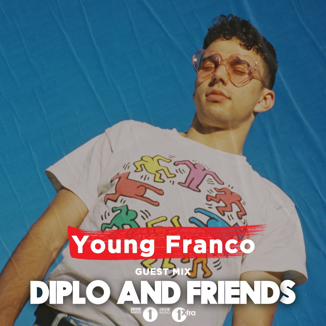 Now on @Diplo and Friends Australia's finest @YNGFRNCO steps up to the decks bringing an eclectic mix of downtempo #HipHop 🚨 🔊 bbc.in/38shP2V Hes got... @MacMiller @pomobeats @berhana @snakehipsuk @kendricklamar @ToroyMoi and loads more in the mix!