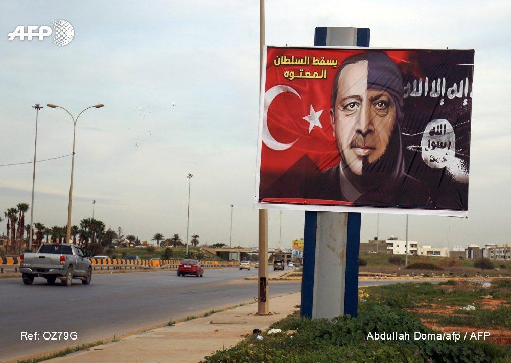 Erdogan-ISIS posters throughout #Libya.